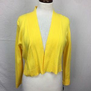 Calvin Klein Yellow 3/4 Open Shrug